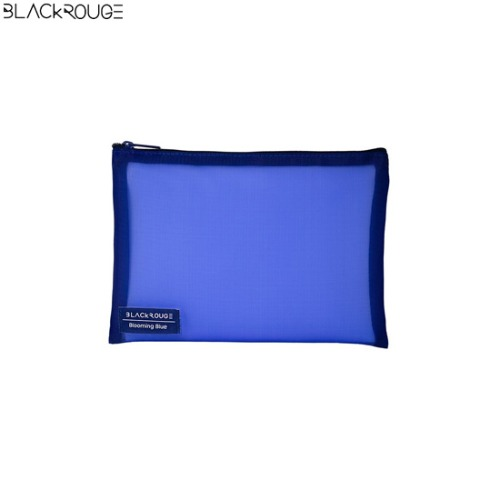 BLACK ROUGE Mesh Pouch Blooming Blue 1ea