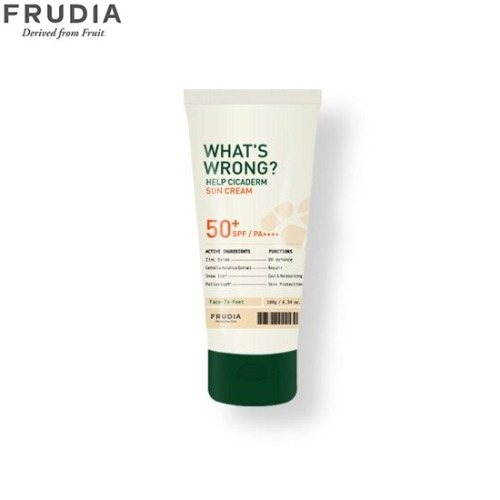 FRUDIA What's Wrong Help Cicaderm Sun Cream SPF50+ PA++++ 180g