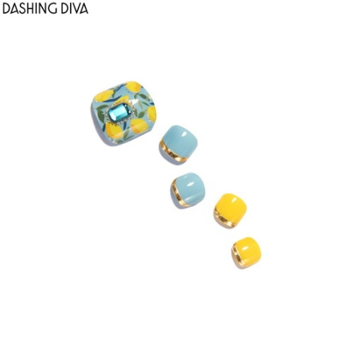 DASHING DIVA Big Stone Gloss Ultra Shine Gel Pedi Strip 1ea [The Queen]