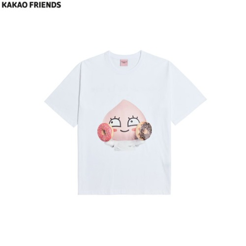 KAKAO FRIENDS Donut Apeach T-Shirt 1ea [KAKAO FRIENDS X ACME DE LA VIE]