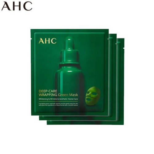 AHC Deep-Care Wrapping Green Mask 40g*3ea