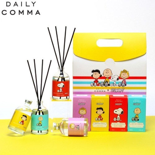 DAILY COMMA Snoopy And Friends Diffuser Gift Package 5items [DAILY COMMA X SNOOPY]