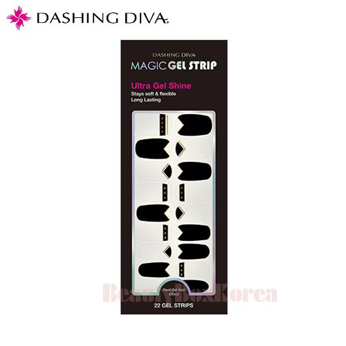 DASHING DIVA Magic Gel Strip DGST 27 Black Desire 1 Set,DASHING DIVA