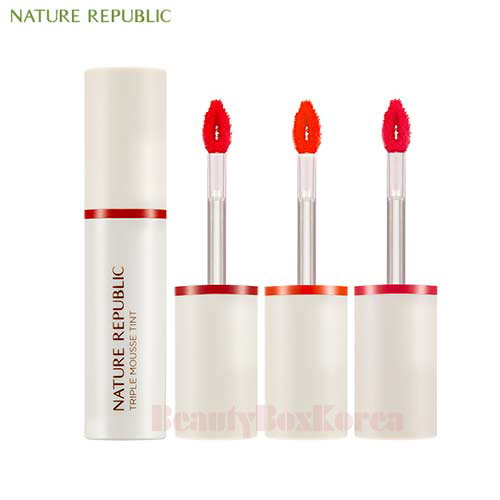 NATURE REPUBLIC By Flower Triple Mousse Tint 4.5g,NATURE REPUBLIC