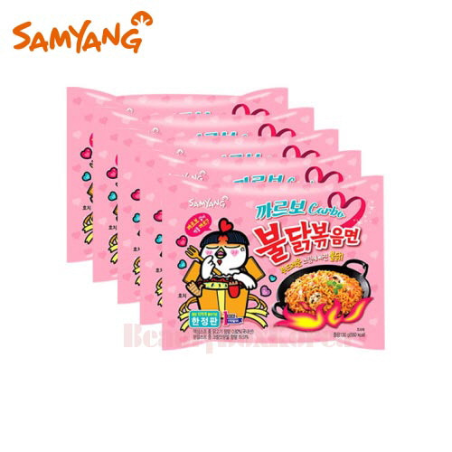 SAMYANG Carbo Hot Chicken Flavor Ramen 130g*5ea,SAMYANG