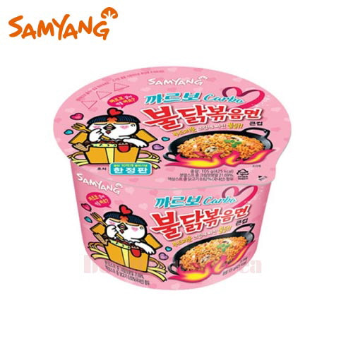 SAMYANG Carbo Hot Chicken Flavor Ramen Big Cup 105g,SAMYANG