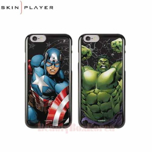 SKIN PLAYER 4Items Marvel Primium Mirror Black Edition Phone Case,SKIN PLAYER