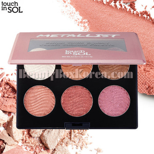 TOUCH IN SOL Metallist High Shine Bouncy Cream Shadow Palette 18g,TOUCH IN SOL