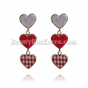 GET ME BLING Fabric Heart Drop Earring,Other Brand