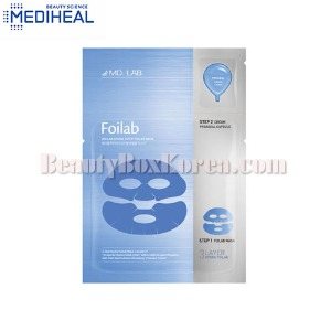 MEDIHEAL Md. Lab Hydra 2Step Foilab Mask 20ml+3ml,MEDIHEAL