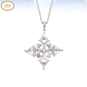 CLUE Frozen 2 Elsa Magic Pendant Silver Necklace (CLNR19B0MMWW) 1ea [CLUE X Disney]