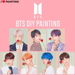 I LOVE PAINTING BTS DIY Painting 1ea