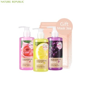 NATURE REPUBLIC Hand & Nature Sanitizer Gel S 300ml Special set 4items,Beauty Box Korea