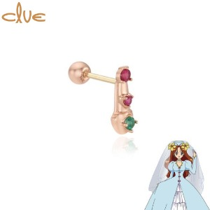 CLUE Angel's Lipstick 10K Gold Piercing (CLE20309T) 1pc [CLUE X Wedding Peach 2nd collaboration]