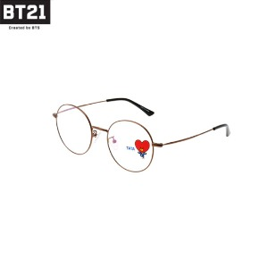 BT21 Brown Metal Glasses Set 4items [BT21 X LOOK OPTICAL]