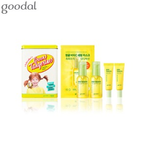 GOODAL Green Tangerine Vita C Dark Spot Serum Plus Double Edition Special Set 6items [GOODAL X PIPPI LONGSTOCKING Edition]