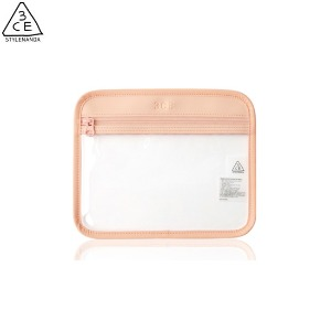 3CE Clear Flat Pouch #Pink 1ea [Clear layer Edition]