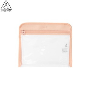3CE Clear Triangle Pouch #Pink 1ea [Clear layer Edition]