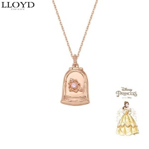 LLOYD Silver Locket Necklace 1ea [LLOYD X DISNEY Princess]