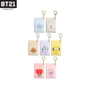 BT21 Baby Leather Patch Card Holder 1ea [BT21 x MONOPOLY]