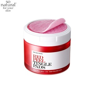 SO NATURAL Red Peel Tingle Pad 50ea 155ml