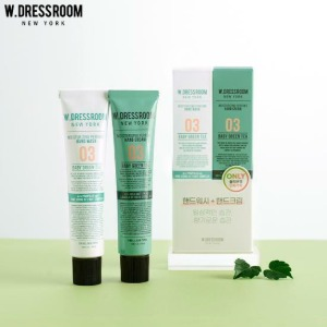 W.DRESSROOM Perfume Hand Cream+Hand Wash No.03 Baby Green Tea Duo Set 2items
