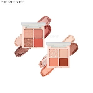 THE FACE SHOP Fmgt Quad Eyeshadow Palette 1.2g*4colors [Rosy Nude Edition]