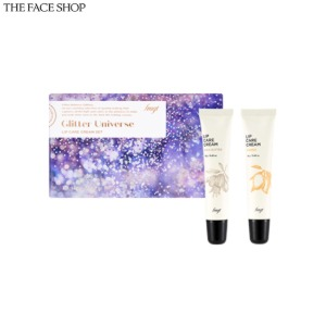 THE FACE SHOP Fmgt Glitter Universe Lip Care Cream Set 2items