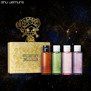 SHU UEMURA X ONE PIECE Collection Wanted Cleansing Oil Kit 4items [Holiday Edition]