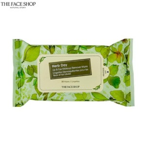 THE FACE SHOP Herb Day Lip & Eye Makeup Remover Tissue 30sheets,THE FACE SHOP