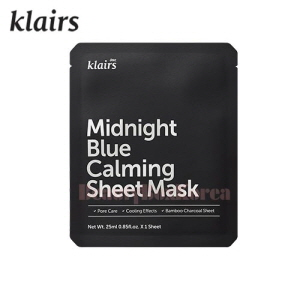KLAIRS Midnight Blue Calming Sheet Mask 25ml,KLAIRS