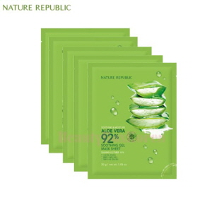 NATURE REPUBLIC Soothing & Moisture Aloe Vera 92% Soothing Gel Mask Sheet 30g*10ea,NATURE REPUBLIC