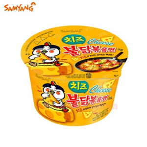 SAMYANG Hot Chicken Flavor Ramen Cheese Big Cup 105g,SAMYANG
