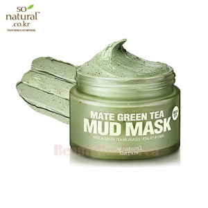 SO NATURAL Mate Green Tea Mud Mask 100ml,SO NATURAL