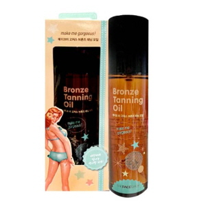 THE FACE SHOP Make Me Gorgeous Bronze Tanning Oil SPF8 140ml,THE FACE SHOP