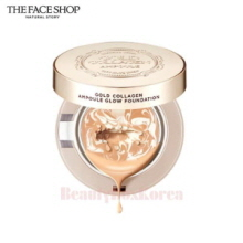 THE FACE SHOP Gold Collagen Ampoule Glow Foundation 10g,THE FACE SHOP