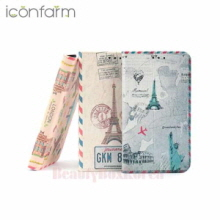 ICONFARM 3Item Vintage Travel Book Diary Phone Case,ICONFARM