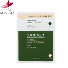MISSHA Super Aqua Pore Kling Bubble Sheet Mask 1ea,MISSHA