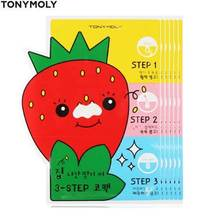 TONYMOLY Strawberry 3 Step Nose Pack 6g*5ea,TONYMOLY
