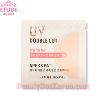 [mini] ETUDE HOUSE UV Double Cut Moisture Tone Up Sun Fluid SPF 48 PA+++ 1ml*10ea,ETUDE HOUSE