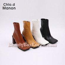 CHLO.D MANON Square Toe Chunky Heel Boots 1pair,Chlo.d Manon