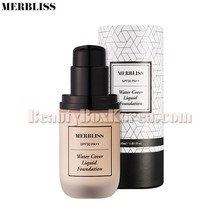 MERBLISS Water Cover Liquid Foundation 30ml,MERBLISS