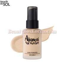 TOUCH IN SOL Advanced Real Moisture Liquid Foundation SPF30 PA++ 30ml,TOUCH IN SOL