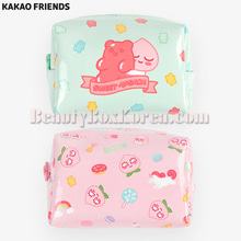 KAKAO FRIENDS Sweet Apeach Enamel Cube Pouch S 1ea,KAKAO FRIENDS
