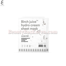 E NATURE Birch Juice Hydro Cream Sheet Mask 28g,E NATURE