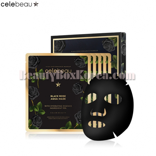 CELEBEAU Black Rose Aqua Mask 25ml*5ea,celebeau