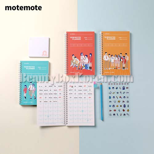 MOTEMOTE A-Teen 10 Minutes Planner 100 Days 1ea [A-Teen x MOTEMOTE],Other Brand