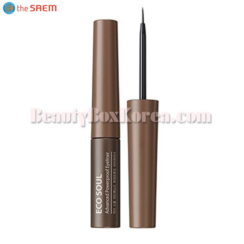 THE SAEM Eco Soul Advanced Powerproof Eyeliner 5g,THE SAEM