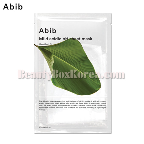 ABIB Mild Acidic pH Sheet Mask Heartleaf Fit 30ml,ABIB