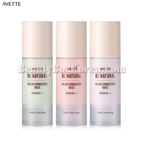 AVETTE Be Natural Color Correcting Base SPF38 PA+++ 30g,AVETTE